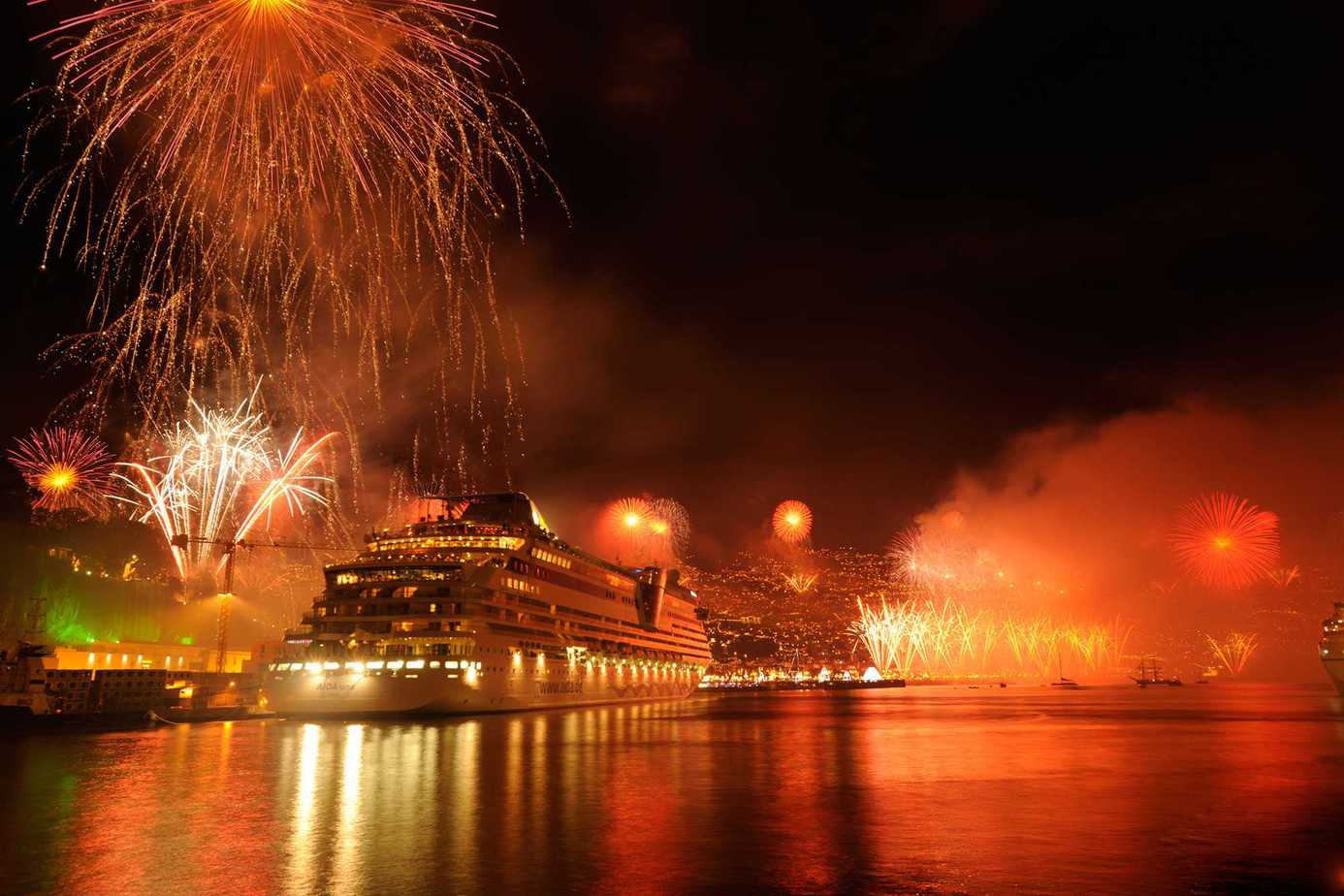 New Years fireworks - Port of Funchal