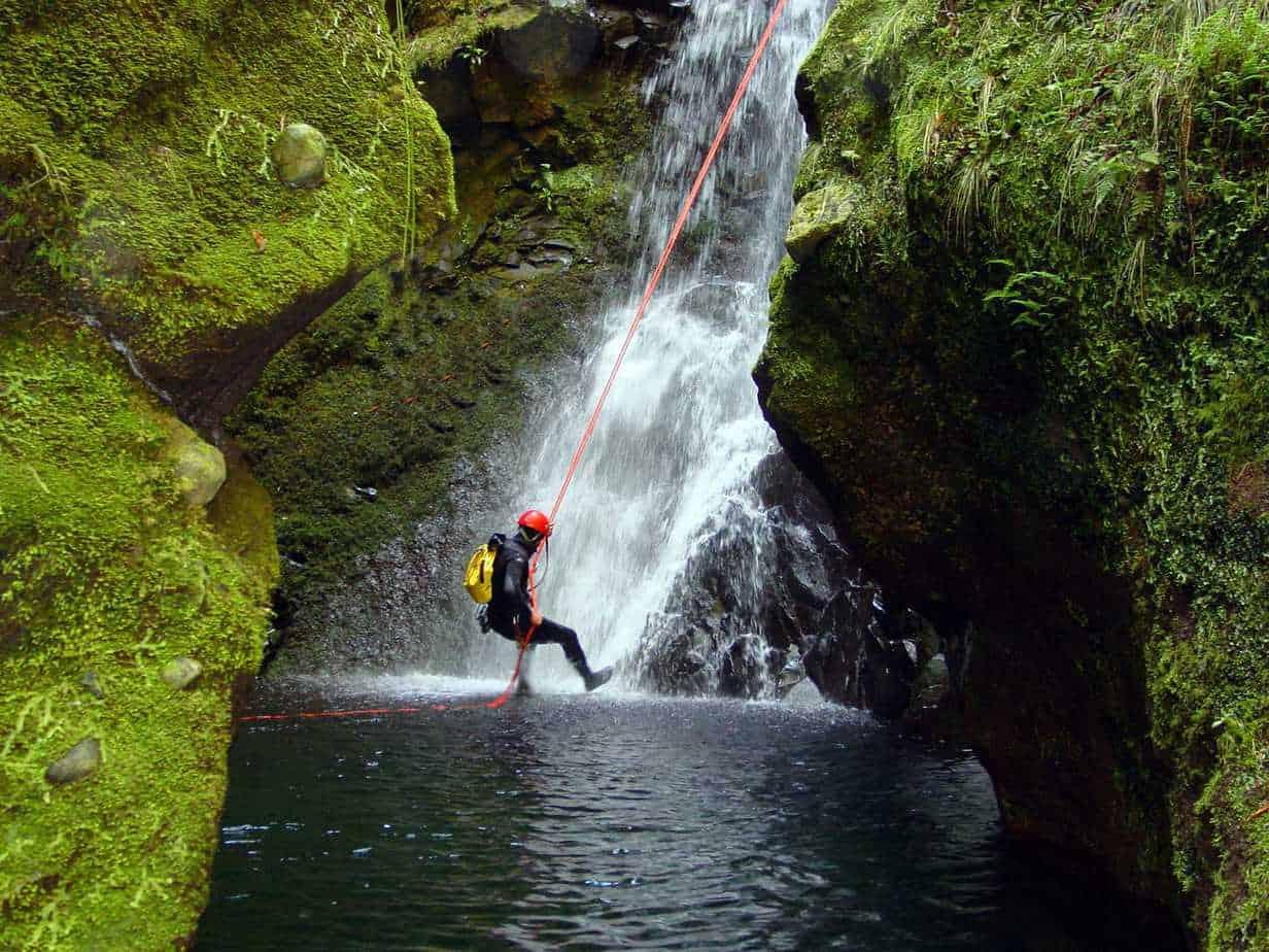 Canyoning in Ribeiro Frio
