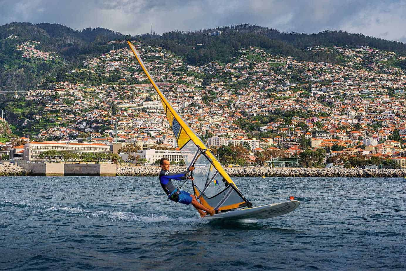 Wind surfing in Funchal